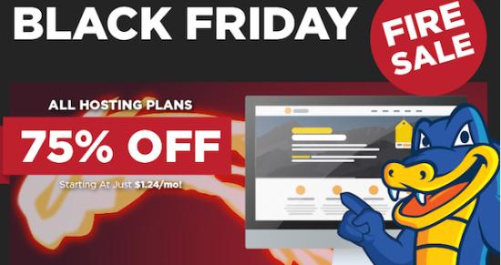 75%off on HostGator – Black Friday Fire Sale