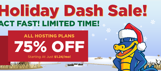 Holiday Dash Sale – 75% Off New Hosting